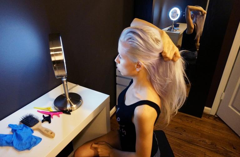 platinum hair / cabello platino
