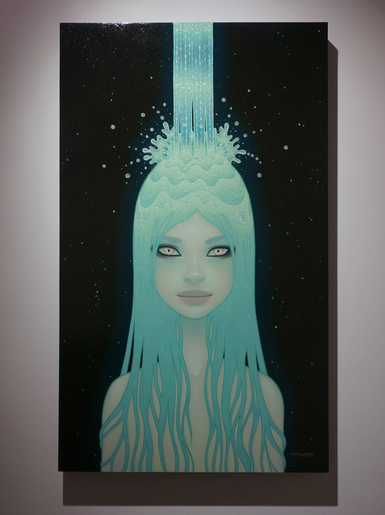 Beautiful painting of Mint Hair girl