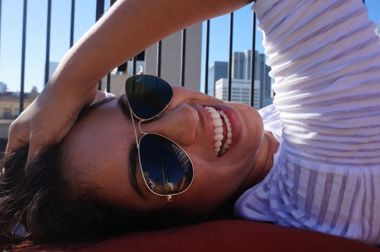 Happy beautiful big smile