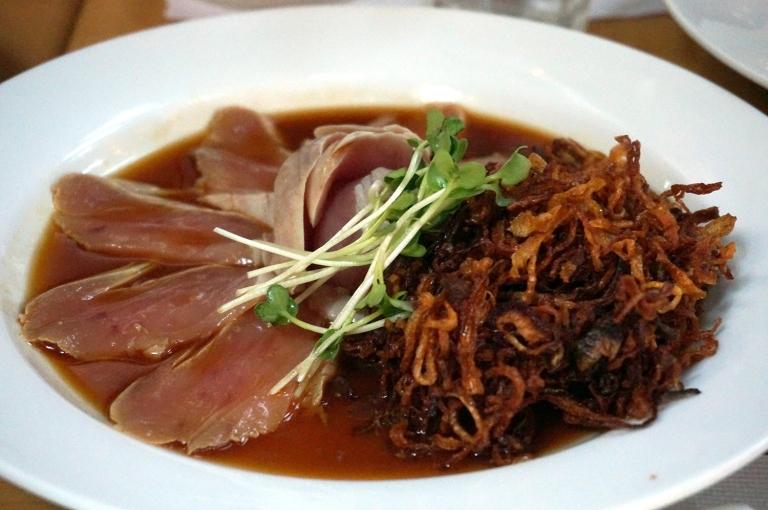 Albacore with crispy onion Iroha