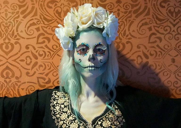 sugar skull finished look