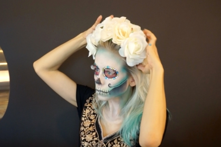 floral headpiece for sugar skull