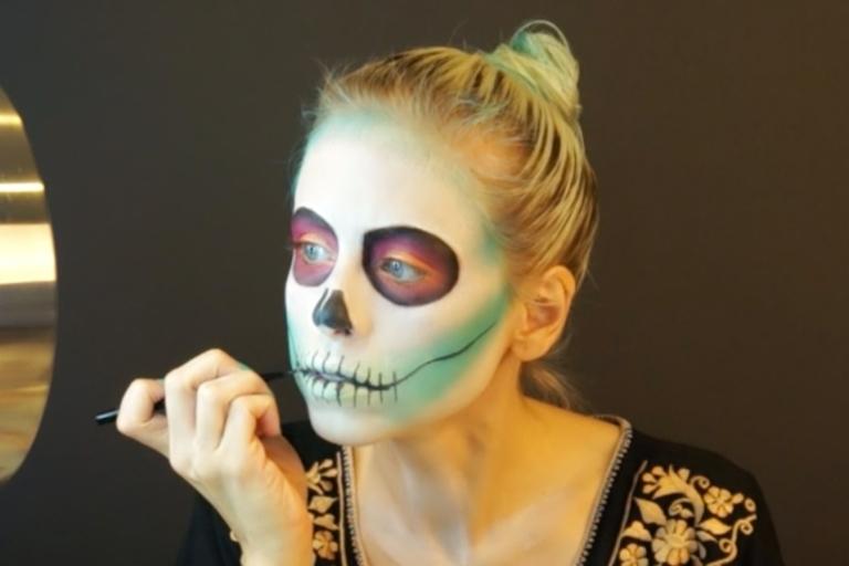 turquoise sugar skull makeup