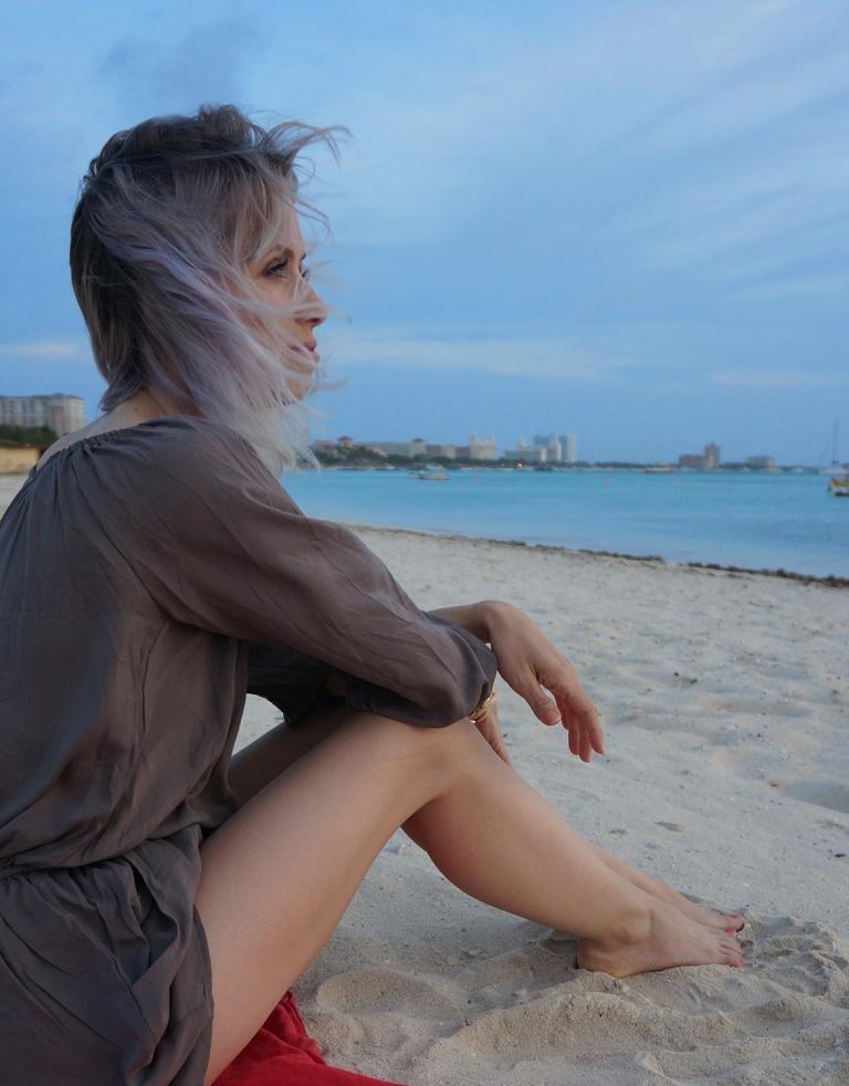 pondering on the beach Aruba