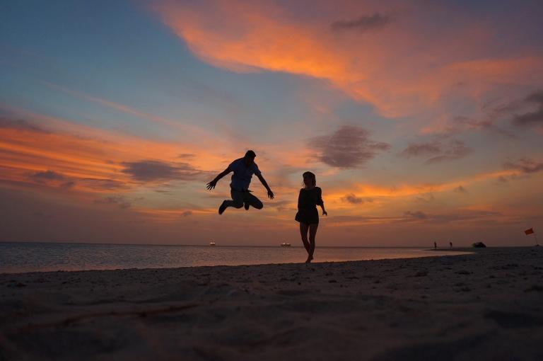 puesta de sol en aruba