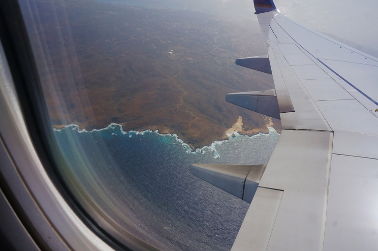 wing shot flying over Aruba