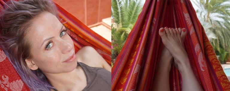 girl in hammock