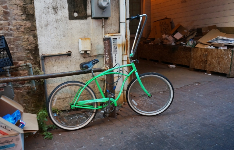 Bright green bike