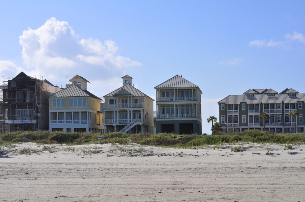 houses on galveston beach