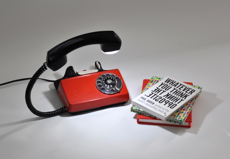 Vintage RED Telephone Lamp