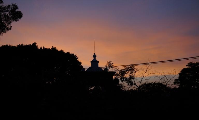 atardecer en el hotel Anticavilla en Cuernavaca, Morelos