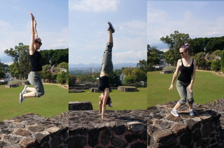 gymnastics on the ruins in Cuernavaca