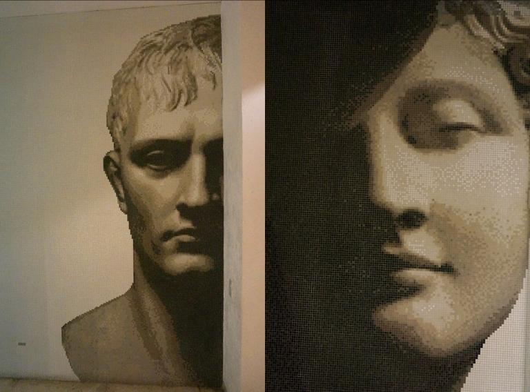 caras de mosaico - Hotel Anticavilla