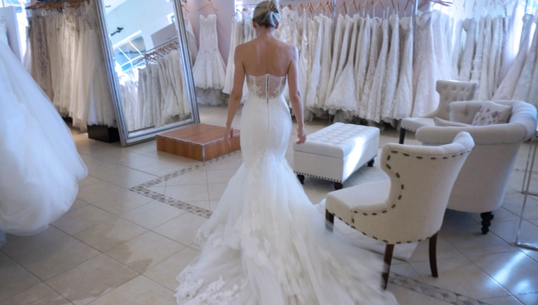 Enzoani Jodie wedding dress real bride