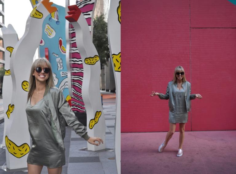 blogger superholly at art Blocks Houston