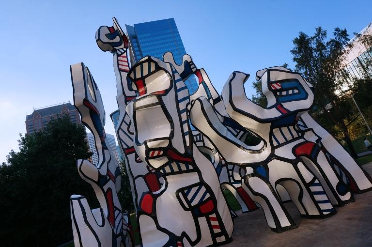 Sculpture in Houston by Jean Du Buffet