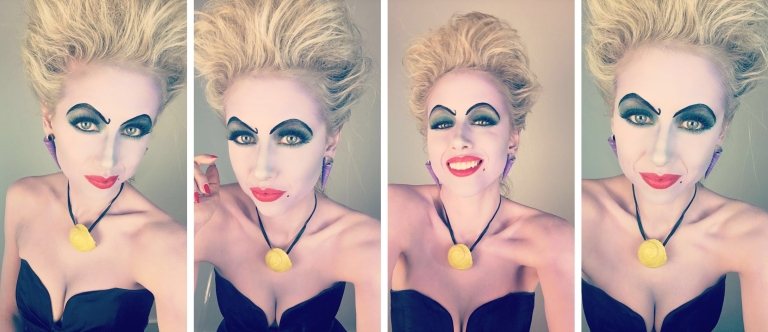 Ursula makeup Superholly
