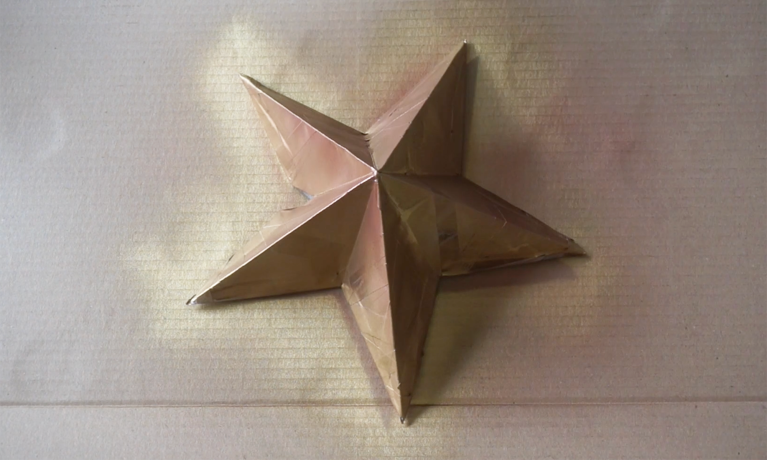 How to Fold a Christmas Tree Topper Yellow Star Paper Art Origami ... | 461x768